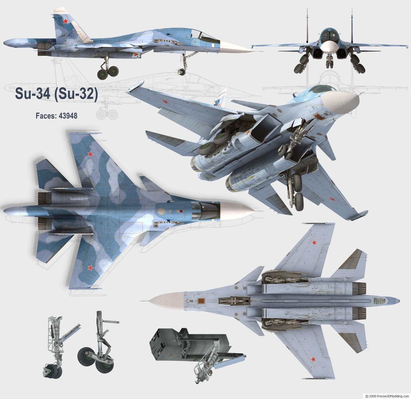 Sukhoi SU-27 Flanker E Derivati (Cutaway) (Spaccato) (Profili